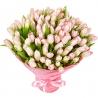 101 тюльпан нежно-розовый