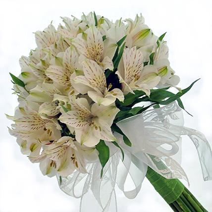 Букет из белых альстромерией «Нежный цвет»