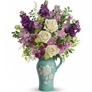 Букет с альстромерией и розами «Сирена»