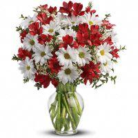 Букет с альстромерией и хризантемой «Жозефина»