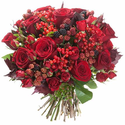 Букет с розами «Мажестик»
