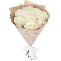 Букет белых роз «Пушинка»
