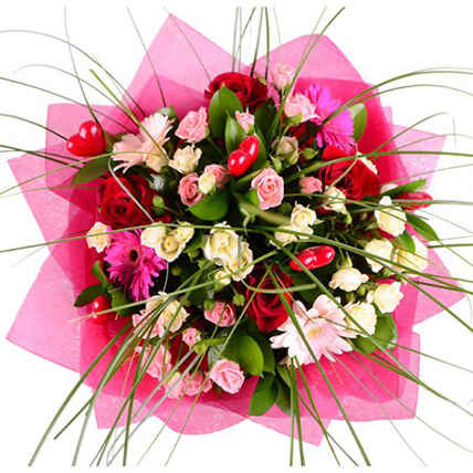 Букет кустовых роз «Интересная личность»