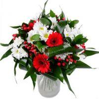Букет с гербами и хризантемами «Танго»