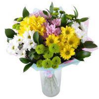 Букет хризантем «Фруктовый шейк»