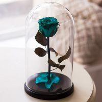 Вечная роза в стеклянной колбе «Тиффани»
