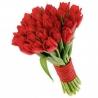 25 тюльпанов красных