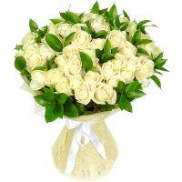 Букет белых роз «Созвездие»