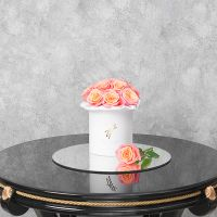 Коралловые розы в белой коробке Small