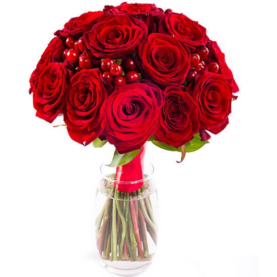Букет с красными розами №208