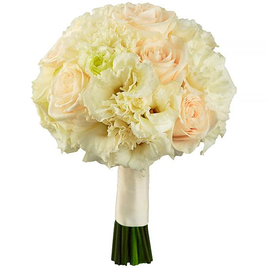Свадебный букет невесты с эустомами розами №215