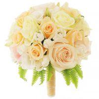 Свадебный букет невесты с кремовыми розами №228