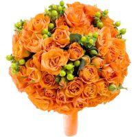 Свадебный букет невесты с кустовыми розами №231