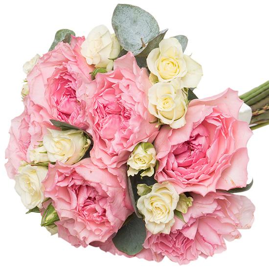 Свадебный букет невесты с пионовидными розами №236