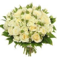 Свадебный букет невесты с белыми розами №246