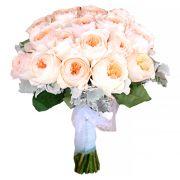 Свадебный букет пионовидными розами Остина №255