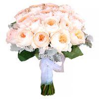 Свадебный букет невесты пионовидными розами Остина №255