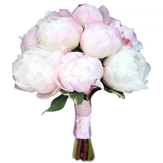 Свадебный букет невесты с нежно-розовыми пионами №260
