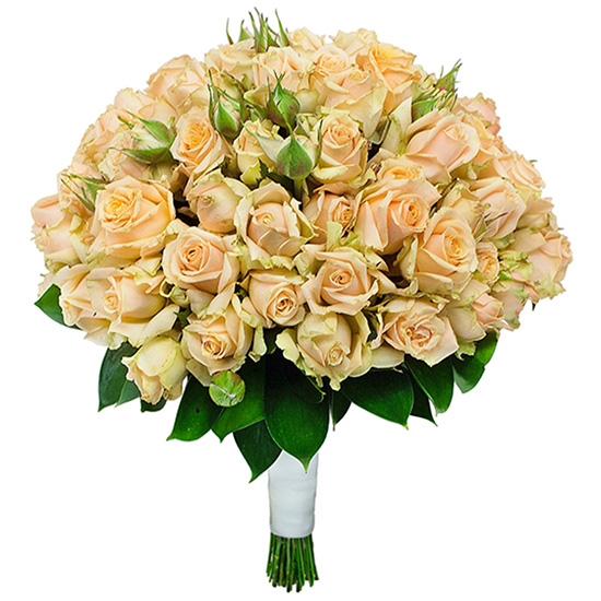 Свадебный букет невесты с кустовыми розами №261