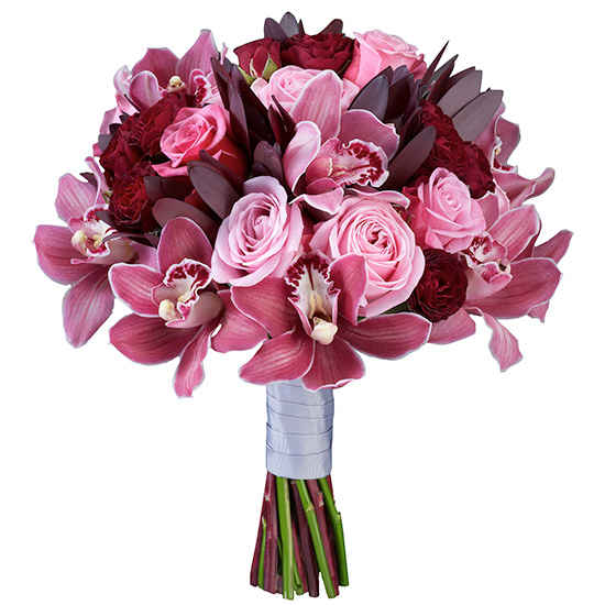 Свадебный букет невесты с орхидеями №266