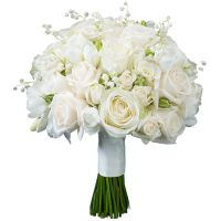 Свадебный букет невесты с ландышами и розами №267