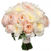 Свадебный букет невесты с пионовидными розами №276