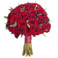 Свадебный букет невесты с красными розами №278