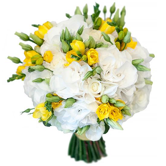 Свадебный букет невесты с гортензией №283