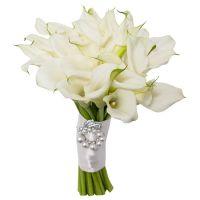 Свадебный букет невесты с белыми каллами №285