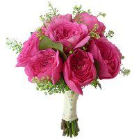Свадебный букет невесты с пионовидными розами №289