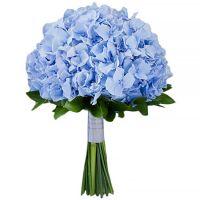 Свадебный букет невесты с голубой гортензией №291