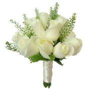 Свадебный букет невесты с белыми розами №296