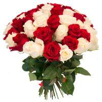 51 роза красная и белая