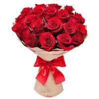 21 роза красная (50 см)