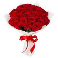 25 роз красных (50 см)