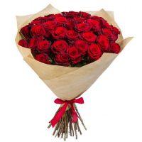 41 красная роза (50 см)