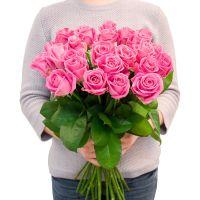 25 розовых роз (50 см)