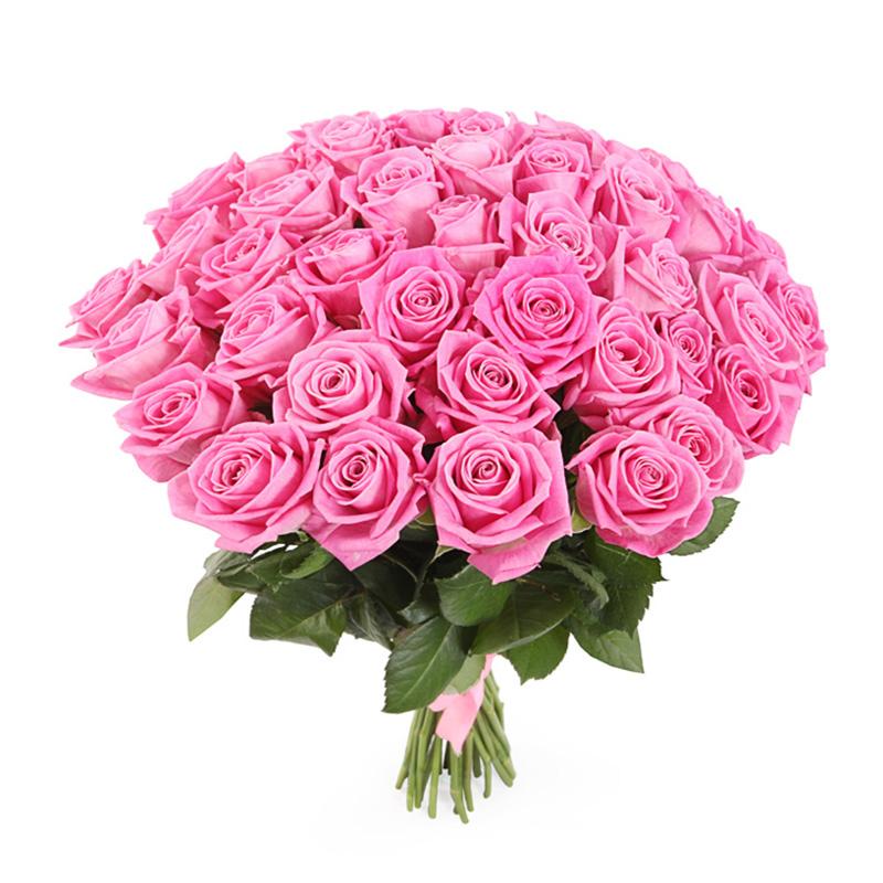 41 розовая роза (50 см)