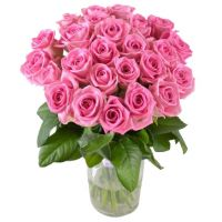 21 розовая роза (50 см)