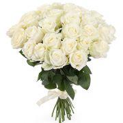 Букет белых роз «Вуаль»