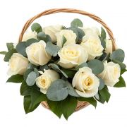 Композиция с розами «Ботаника»