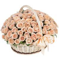 Композиция из 101 розы «Молочный шоколад»