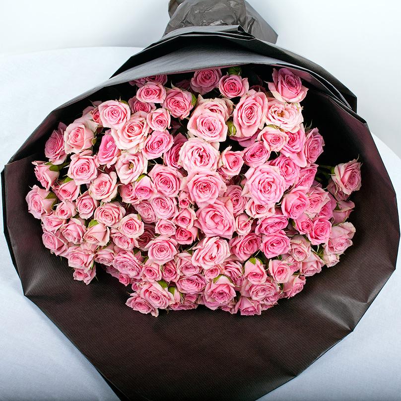 Букет роз в крафте «Яркий»