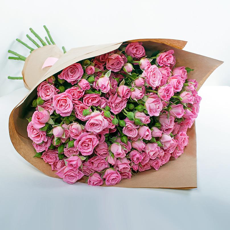Букет кустовых роз «Анабель»