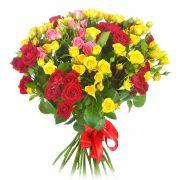 Букет кустовых роз «Феерия»