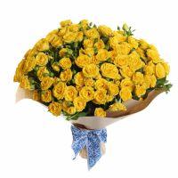 Букет кустовых роз «Солнечный круг»