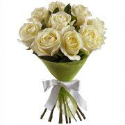 Букет белых роз «Крем-брюле»