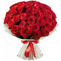 Букет из 41 розы красной