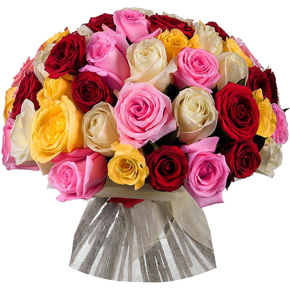 Букет из 51 розы микс