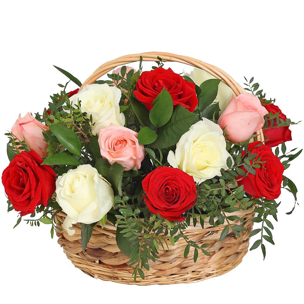 Корзина с розами «Ароматные сны»